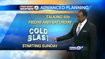Weekend starts warm, windy then turns cold