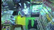 Gorilla mask gunman holds up convenience store