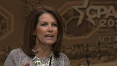Bachmann Takes Aim at Hillary Clinton at CPAC