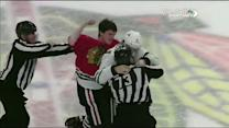 Andrew Shaw and Antoine Roussel scrap