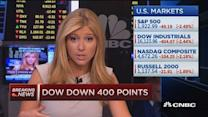 Dow down 400 points