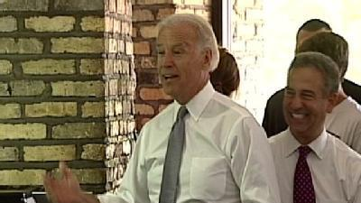 V.P. Joe Biden Visits Kopp's Custard; Banters With Manager