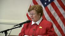 Sen. Mikulski: 'Hard Decision' to Not Seek Re-Election