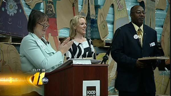 ABC11 earns award from local food bank