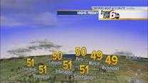 Highs in 50s Friday