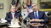 "Obama, Boehner talk ""cliff"" behind closed doors"