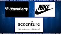 Top Tickers: BlackBerry, Nike, Accenture