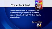 Police Investigating Officer-Fan Altercation At Coors Field
