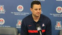 Arizona head coach Sean Miller, Red-Blue Game
