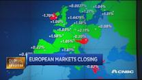 European markets rebound as euro retreats