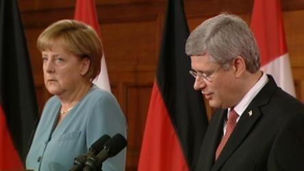 Merkel and Harper meet