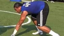 DT Austin Maloata at the B2G Elite Camp