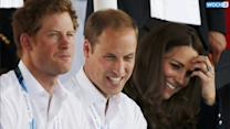 Kate Middleton, Prince William And Prince Harry Attend Commonwealth Games