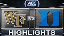 Wake Forest vs Duke | 2014 ACC Basketball Highlights