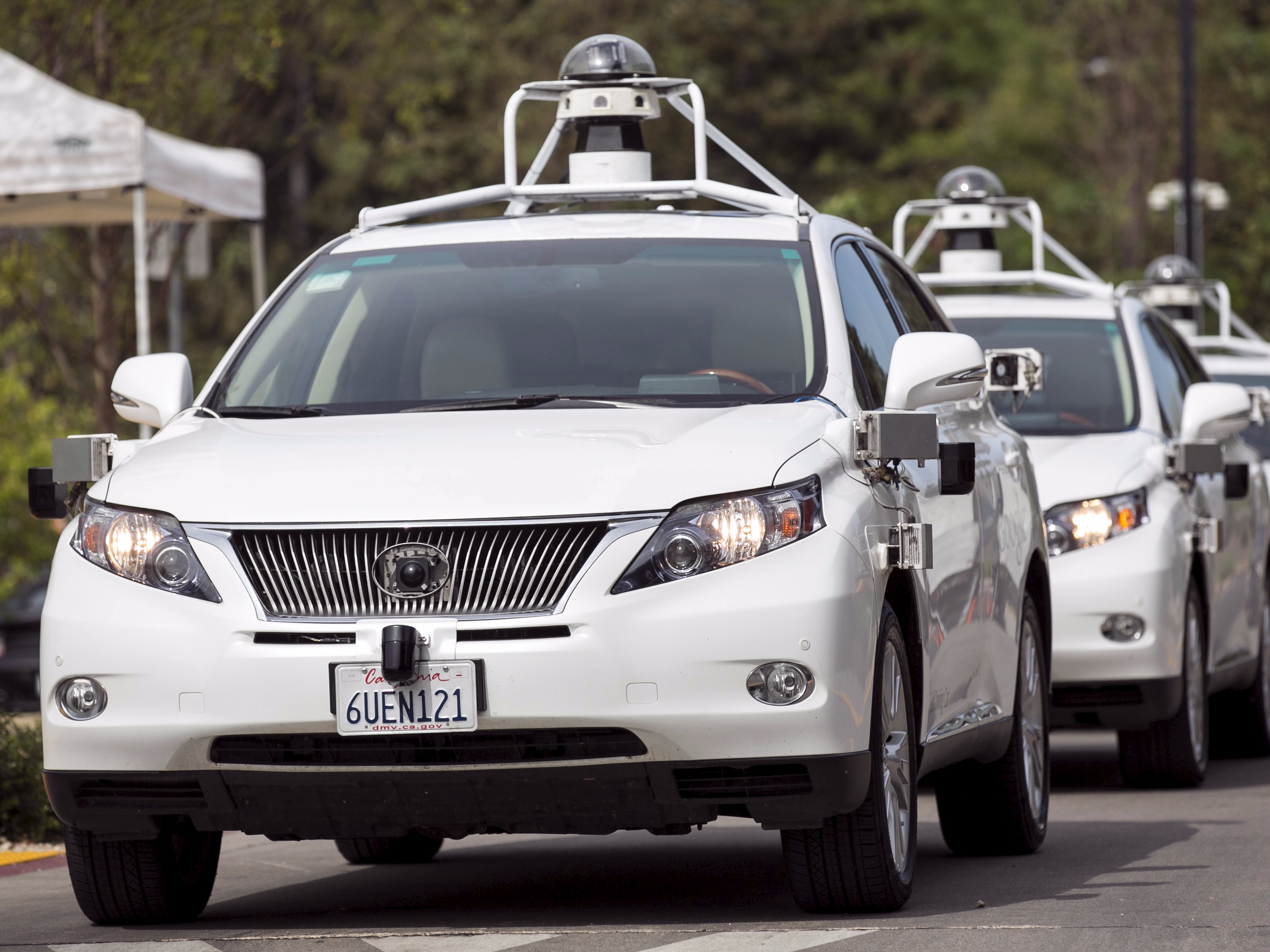 One of Google's self-driving cars was involved in an accident that sent its driver to the hospital