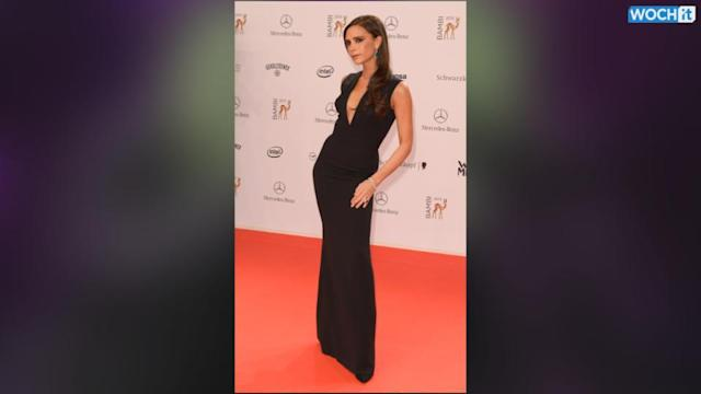 Victoria Beckham Flaunts Figure While Being Honored At Bambi Awards