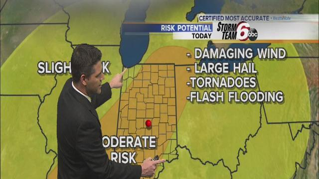 Thursday's Forecast: Moderate risk of severe weather