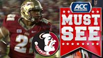 FSU DE Chris Casher Scoops and Scores | ACC Must See Moment