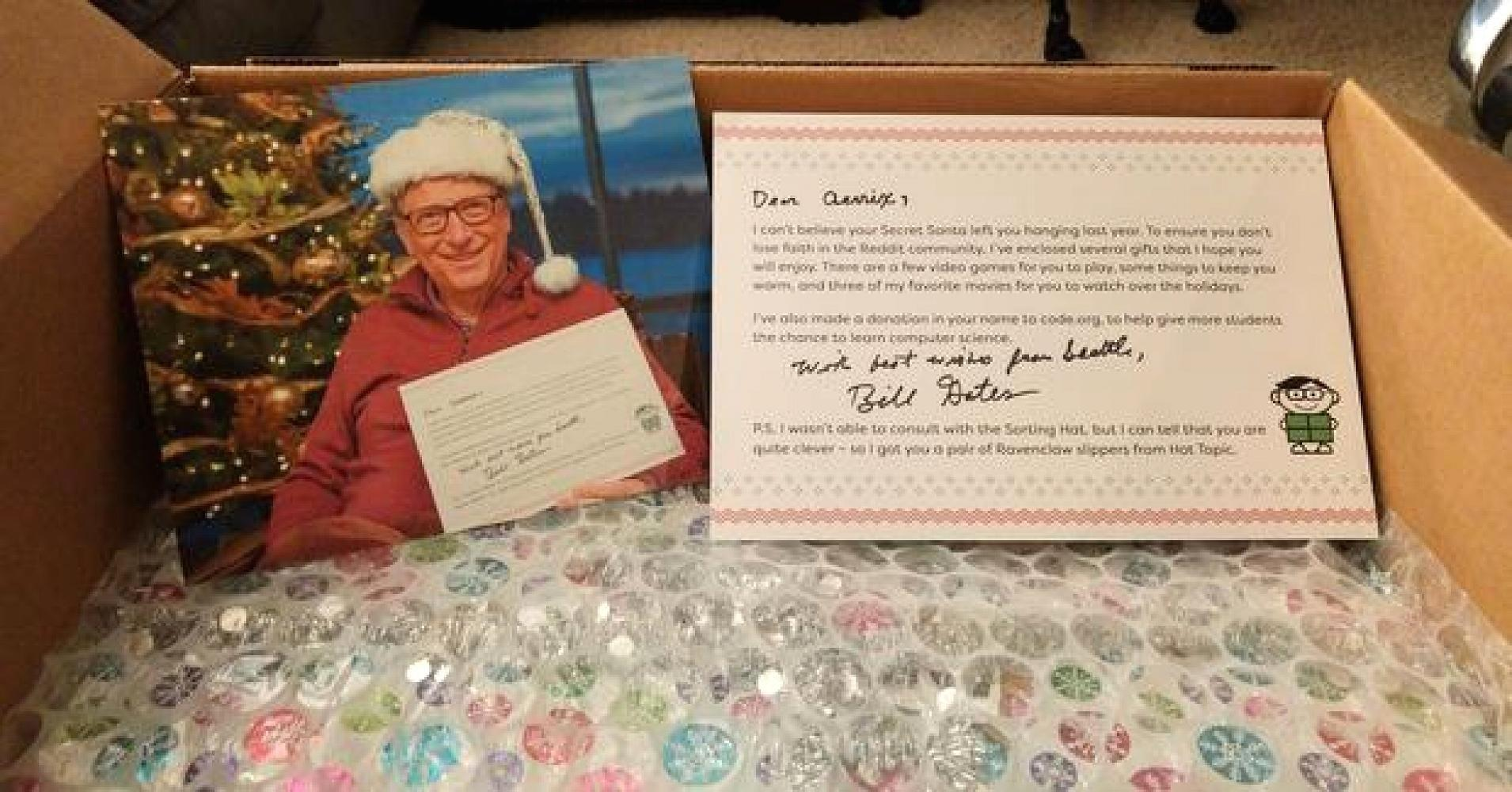 Bill Gates showers a lucky Redditor with gifts in Secret Santa exchange