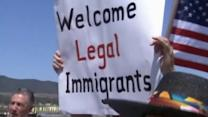 Heated immigration debate spills onto streets of southern California community