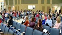 Parents emotional at student assignment hearing