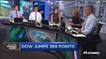 Dow adds 369 points