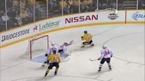 Halak flashes the catching glove on Hornqvist