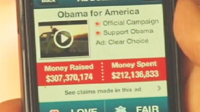 Campaign advertisements revealed with Super PAC App