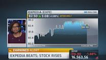 Expedia beats estimates