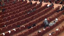 IRAQI PARLIAMENT SESSION COLLAPSES