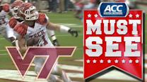 Virginia Tech Blocks Punt and Scores | ACC Must See Moment