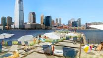 Sand and the City - a floating beach for NYC?