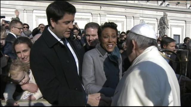 Robin and Josh's Extraordinary Meeting With Pope Francis