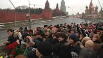 Thousands of stunned Russians mourn slain opposition figure