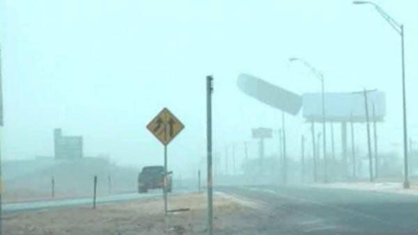 Winter storm causes wind damage in West TX