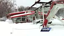 Video: Collapsed structure at Raytown car dealership