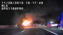 Raw: Dashcam Shows Chase Before Fatal Ohio Crash