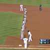Dodgers use extreme infield shift