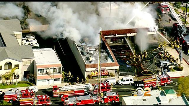 Crews Battle 3-Alarm Fire At Glendale Strip Mall
