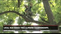 Louisvillian competing in Inernational Tree Climbing Championships