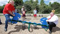 Photos of the Day - Rob Ford Rides a Teeter Totter