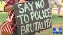 Demonstrators in Phoenix peacefully protest police brutality