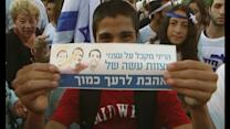 Israelis show support for war in Gaza