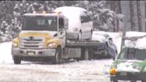 Drivers Stranded Vehicles On I-70 During Snowstorm