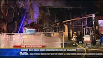Mission Hills house under construction goes up in flames
