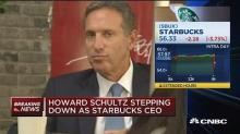 Starbucks shares fall as CEO Schultz steps down