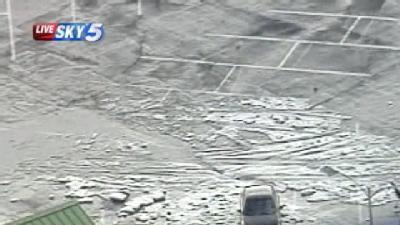 Parking Lot In NW OKC Hit Hard By Hail