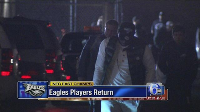 Eagles players return from Dallas