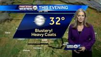 Cold air, blustery conditions move in for Saturday
