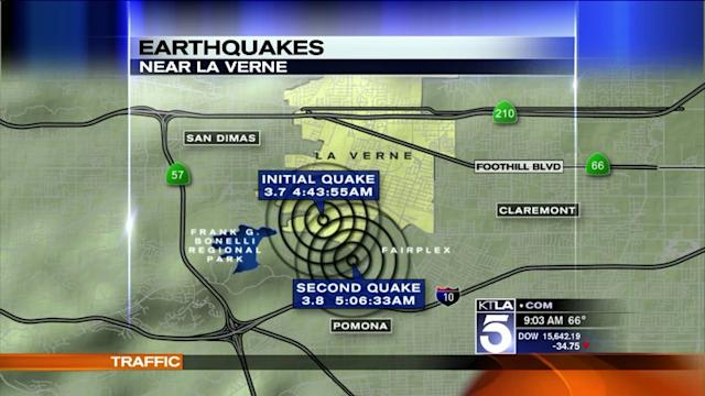 Series of 9 Earthquakes Hits Pomona Area, Topped by 3.8 Temblor